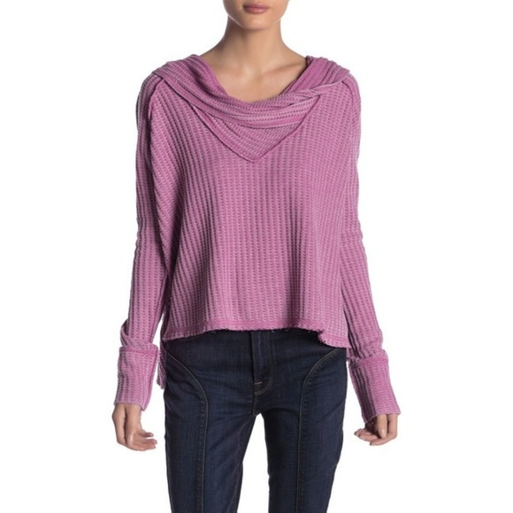Free People Tops - Free People Wildcat Thermal Top L Rose Pink